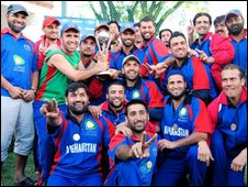 Members of the Afghan cricket team (Photo: Leslie Knott)