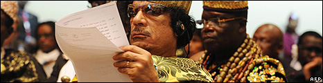 Col Gaddafi of Libya