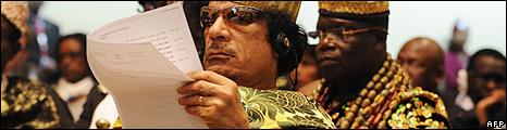 Col Gaddafi of Libya