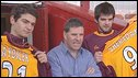 Mark McGhee with his two new signings