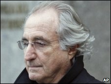 Bernard Madoff going to a recent court hearing