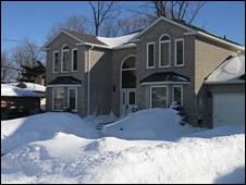 Denise's house in Kingston, Ontario