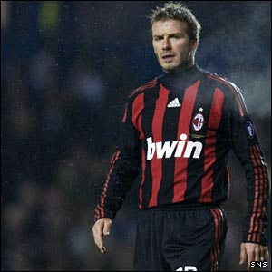 David Beckham was substituted at half-time