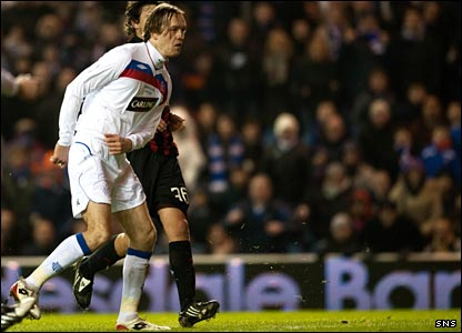 Sasa Papac draws Rangers level with a rare goal