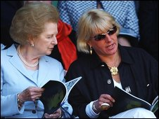 Baroness Thatcher with daughter Carol