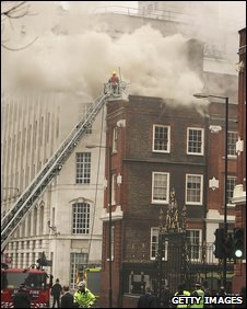 Fire at College of Arms building