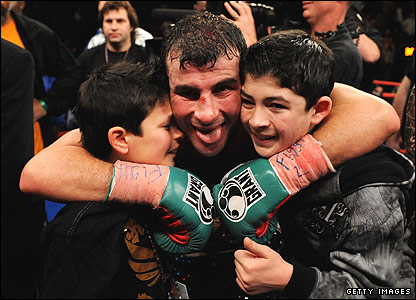 Joe Calzaghe and his sons Connor and Joe