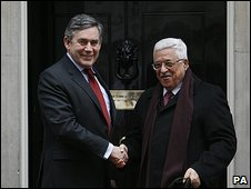 Gordon Brown and Mahmoud Abbas