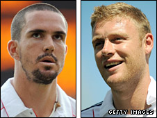 Kevin Pietersen and Andrew Flintoff