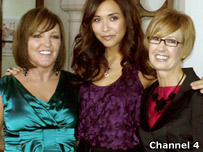 Myleene Klass with two makeover participants