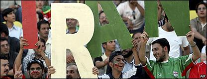 Hinchas de la selección de fútbol de Irán