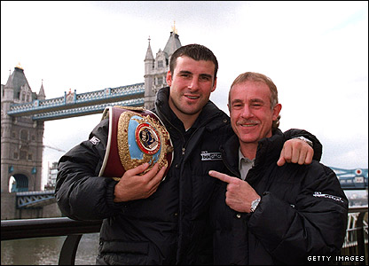 Joe Calzaghe (left) and Enzo Calzaghe