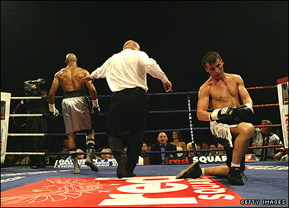 Byron Mitchell (left) and Joe Calzaghe