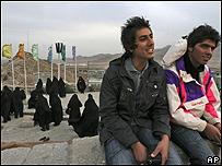 Jóvenes iraníes