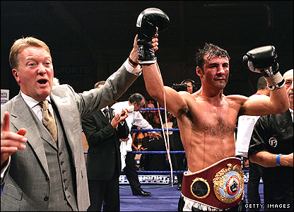 Frank Warren (left) and Joe Calzaghe