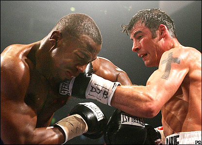 Jeff Lacy (left) and Joe Calzaghe