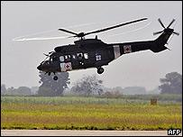 Helicóptero de la Cruz Roja en Colombia.