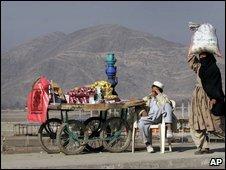 Afghan street vendor