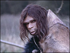 TV representation of a Neanderthal male (BBC)