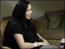 Nadya Suleman being interviewed in February