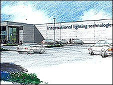 Artist's impression of new Thorn Lighting factory