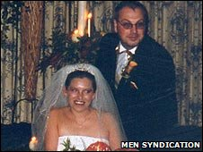 Emma and Neil Brady at their wedding
