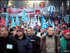 Protest in Paris on 29 January 2009