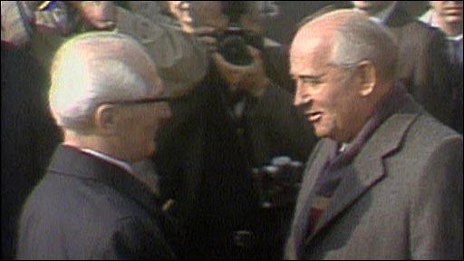 President Gorbachev visits Berlin in 1989