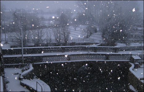 Fast-falling snow