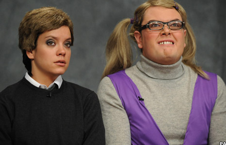 Lily Allen and Alan Carr