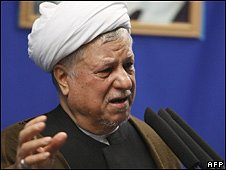 Former Iranian president Hashemi Rafsanjani (file photo)