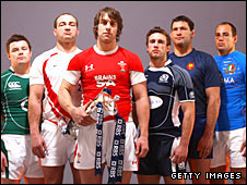 The Six Nations captains line up