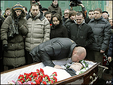 Funeral of lawyer Stanislav Markelov, 23 Jan 09