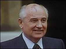 Former Soviet leader Mikhail Gorbachev (file pic)