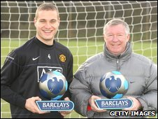 Nemanja Vidic and Alex Ferguson