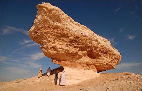 The distinctive rock, Howgah Harasis