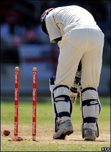 Chris Gayle is bowled