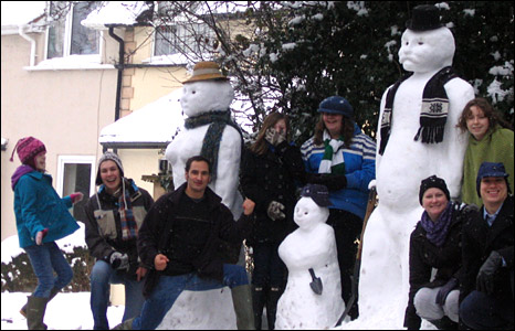 Snow family and friends. Photo: Veronica Dumitrescu