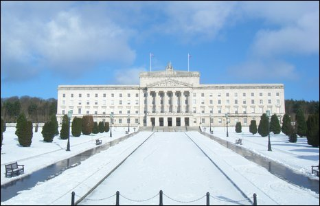 David Lewis sent in this shot of a snow covered Stormont