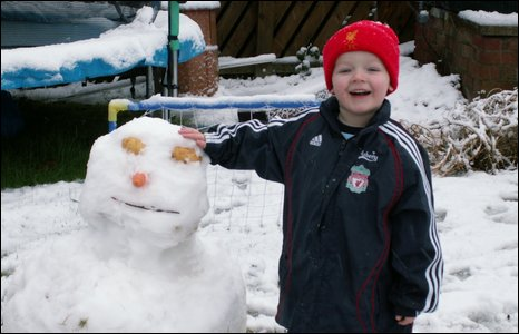 Lee and Julie Donaldson sent in this shot of their son Nathan enjoying the snow