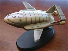 pewter Thunderbird 2 model