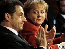 French President Nicholas Sarkozy and German Chancellor Angela Merkel