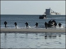Marines on Pentewan Beach