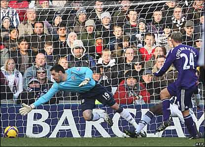 Scott Carson, West Bromwich Albion; Peter Lovenkrands, Newcastle United