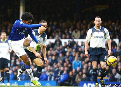 Jo scores for Everton