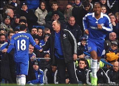 Ricardo Quaresma, Luis Felipe Scolari, Didier Drogba, Chelsea