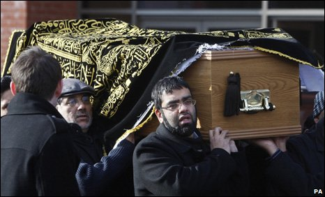 About 1,000 people attended the funeral at Glasgow Central Mosque