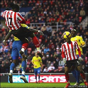 Kenwyne Jones scores for Sunderland
