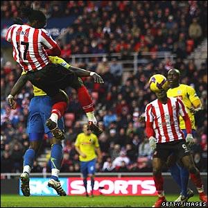 Kenwyne Jones scores for Sunderland