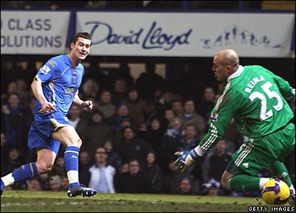 David Nugent, Portsmouth; Pepe Reina, Liverpool